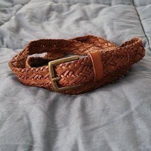 LOFT braided brown belt size medium